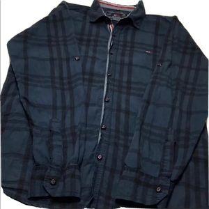 shirt long sleeves tommy hilfiger blue color SzL